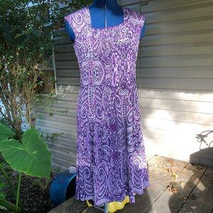 Perceptions | Purple Stretch midi dress